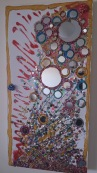 Mirror painting by Cylvi M