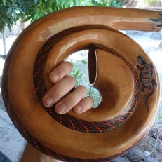 a coiled didgeridoo