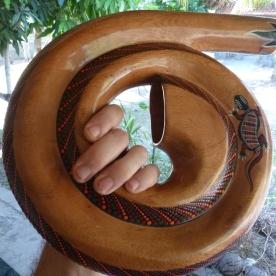a coiled didgeridoo