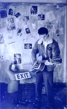 Dave Edwards, recording 'Scratched Surface' circa 1997