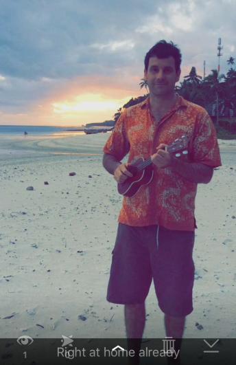 Dave Black in Fiji